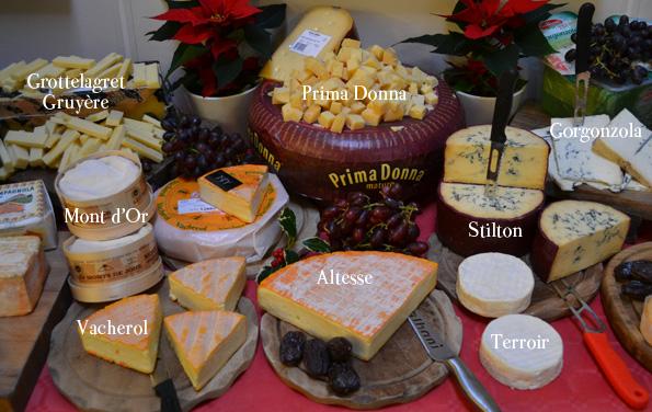 Flere oste med navne