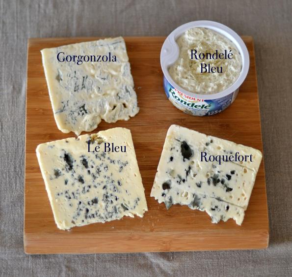 Roquefort, gorgonzola, le bleu, rondele bleu, blåskimmelost