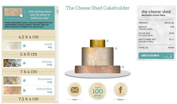 Cakebuilder tool fra The Cheese Shed