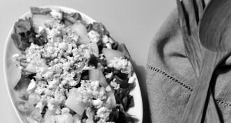 Salat med blåskimmelost