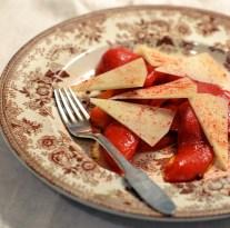 Bagt peberfrugt med manchego og paprika