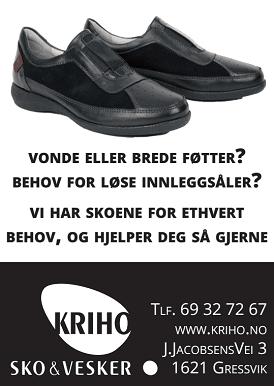 Kriho - Vonde eller brede føtter - vi hjelper deg!