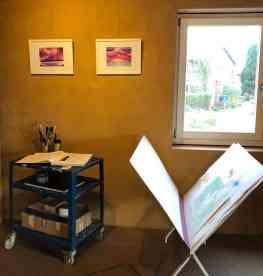 Werkausstellung am 23.11.2019 nach dem zweiwöchigen Aufenthalt im Kunsthaus Stove