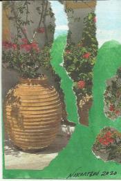 katarina nikoltsou cultivate a greek garden growing from an ancient urn