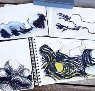 Gabi Dahl, Zeichnungen_Aufenthailt Stove
