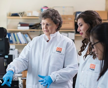 Dr. Kathy Magnusson in the lab