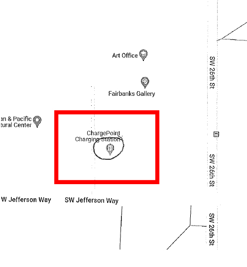 Map of work near Fairbanks Hall, Oregon State University