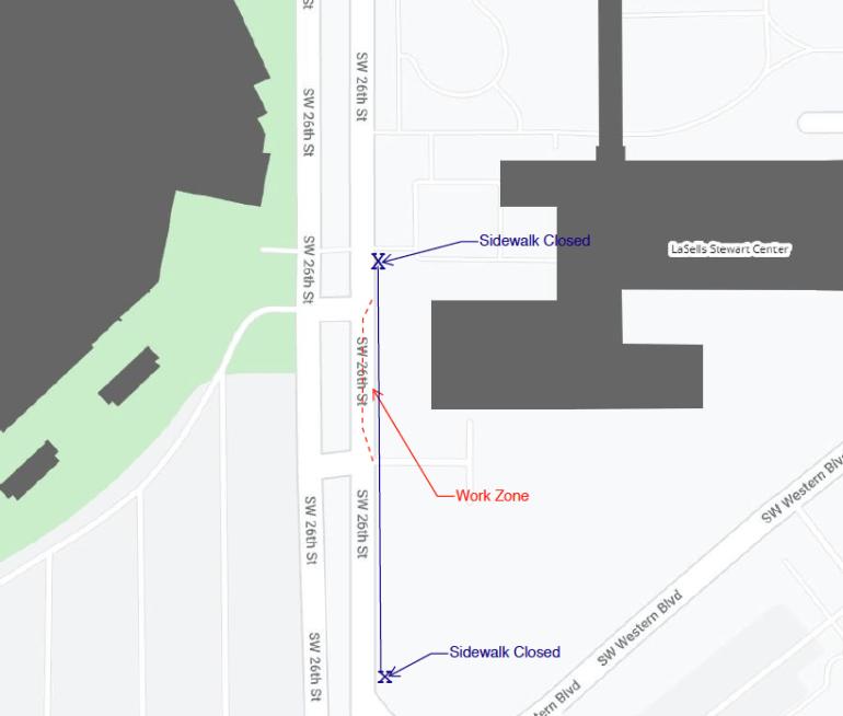 LaSells Stewart Center map