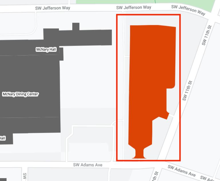 Adams Northeast lot #3205 area map