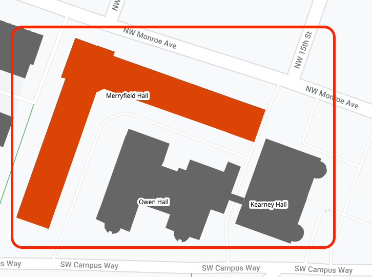 Merryfield Hall area map