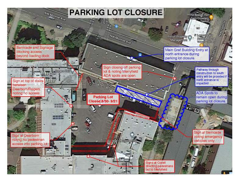 Lot #3221 closure area map