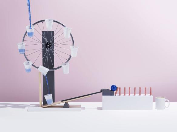 Example of a Rube Goldberg machine