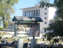Sign for the Midway Mall.