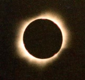 Solar eclipse (1981) showing sun's corona. A view that inspired the name of the virus that has upended everything at the current moment. image: Ray Thomas, http://brisray.com/
