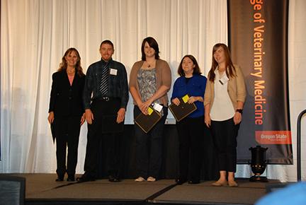 Phi Zeta Induction Recognition - Andrew Beachy, Kaley Lischke, Kyra Knutson, Sarah Hunter