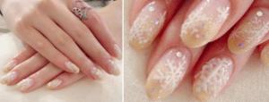 クリスマスネイル,氷,結晶,かわいい