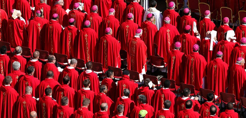 Bishops and priests at Mass at the Vatican