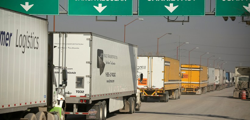 TRUCKS U.S.-MEXICO BORDER CROSSING