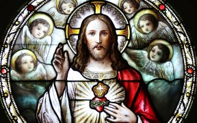 STAINED-GLASS SACRED HEART