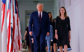 PRESIDENT DONALD TRUMP AND AMY CONEY BARRETT