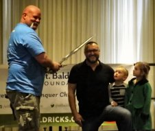 Doug Kells is knighted for his service to St. Baldrick's.