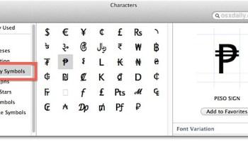 Type the Euro Symbol € in Mac OS X