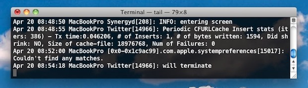 Mac OS X Console Logs from Command Line