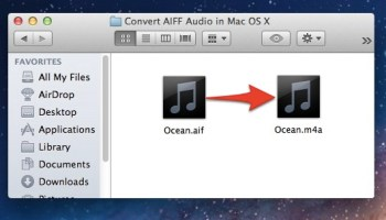 Convert Video to an Audio Track Directly in Mac OS X | OSXDaily