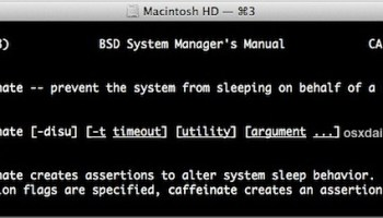 Prevent System Sleep While a Process or Command is Active in Mac OS
