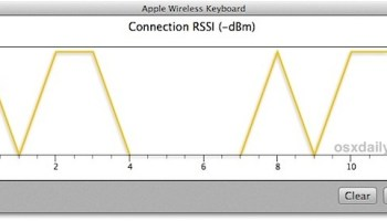 Check Bluetooth Signal Strength in Mac OS X