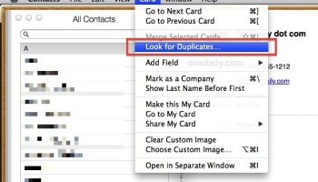 How To Merge Multiple Contacts On IPhone From Mac OS X