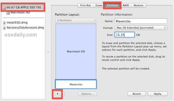 Updating boot support partitions for the volume as required maverick