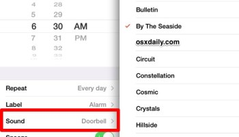 Set a Song as the Alarm Clock Sound on iPhone, iPad, and iPod | OSXDaily