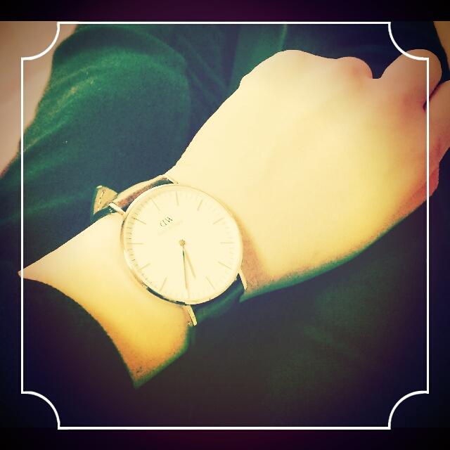 大きい文字盤の腕時計!話題のダニエルウェリントン