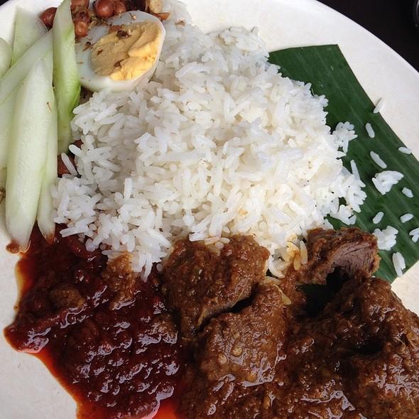 Image result for nasi lemak daging sambal