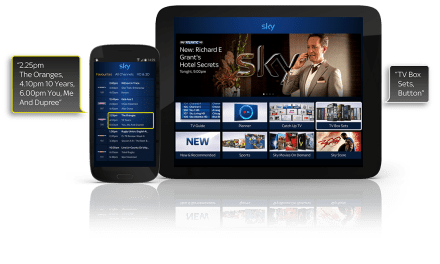 Sky+ app: the new talking TV guide for blind and partially sighted customers