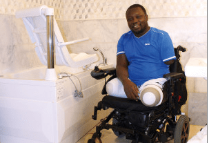 Assistive Windsor bath donated ensures injured veteran can bathe in comfort