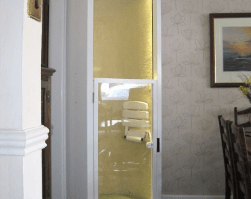 How a home lift helped a retired policeman amputee