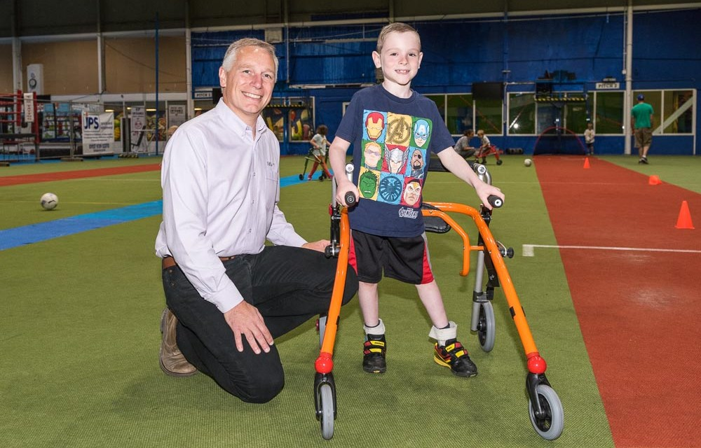 R82 helps more children enjoy Frame Football with donated crocodile walking aids