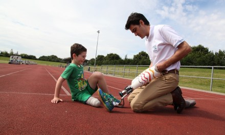 Blade Boy Rio the first to be fitted by Dorset Orthopaedic with Ottobock's junior running blade