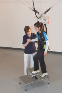 The FLOAT_Patient Climbing Stairs in Gait Training_130604.JPG