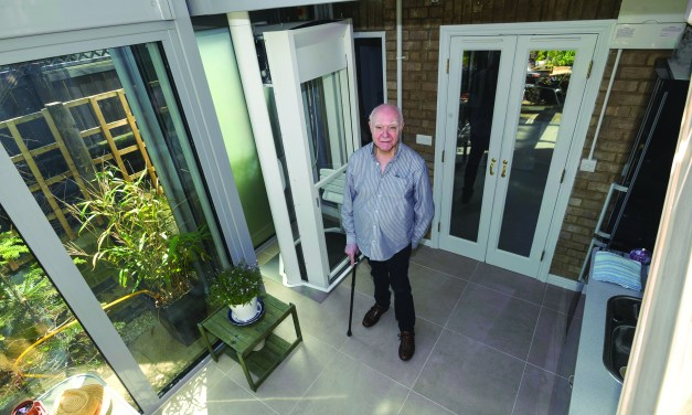 Cambridge man gets a 'life-changing' home lift