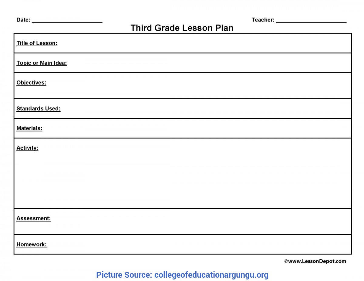 Esl Lesson Plans For 3rd Grade