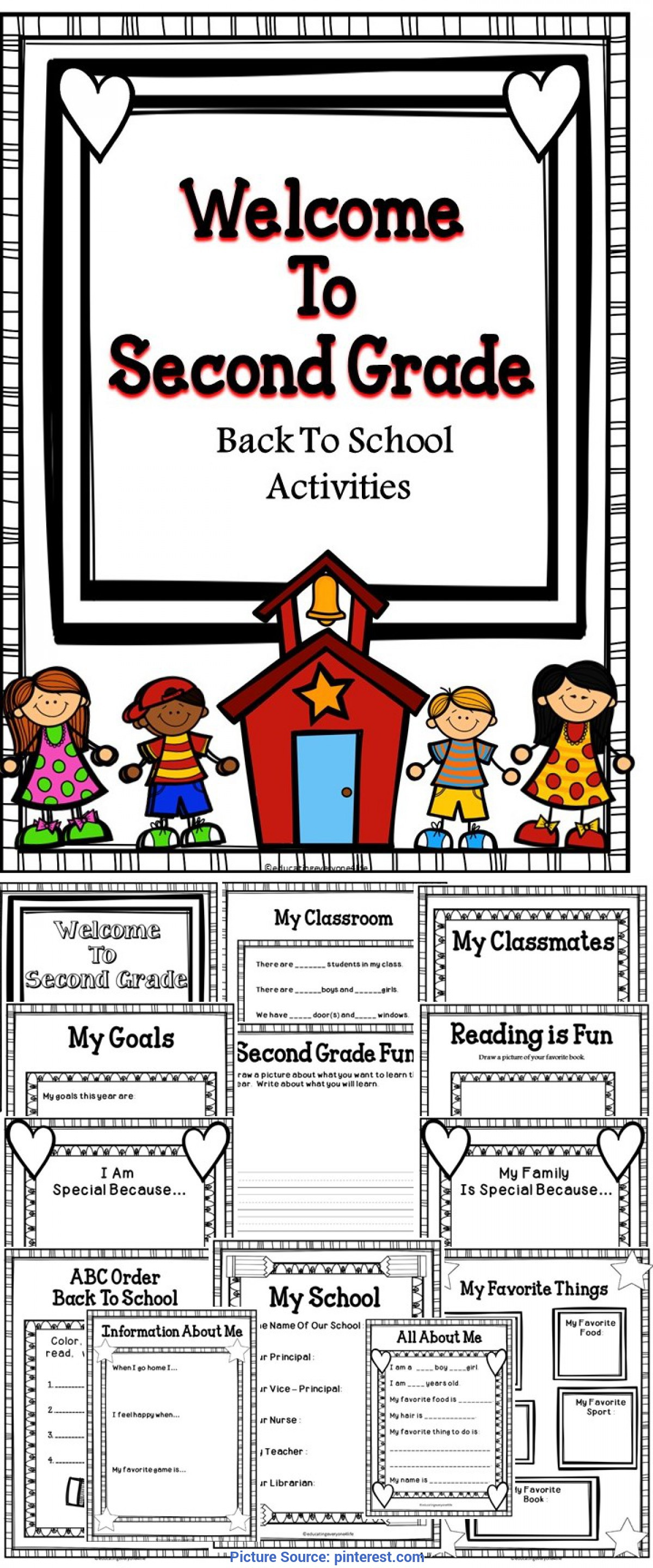 2nd Grade Back To School Worksheet