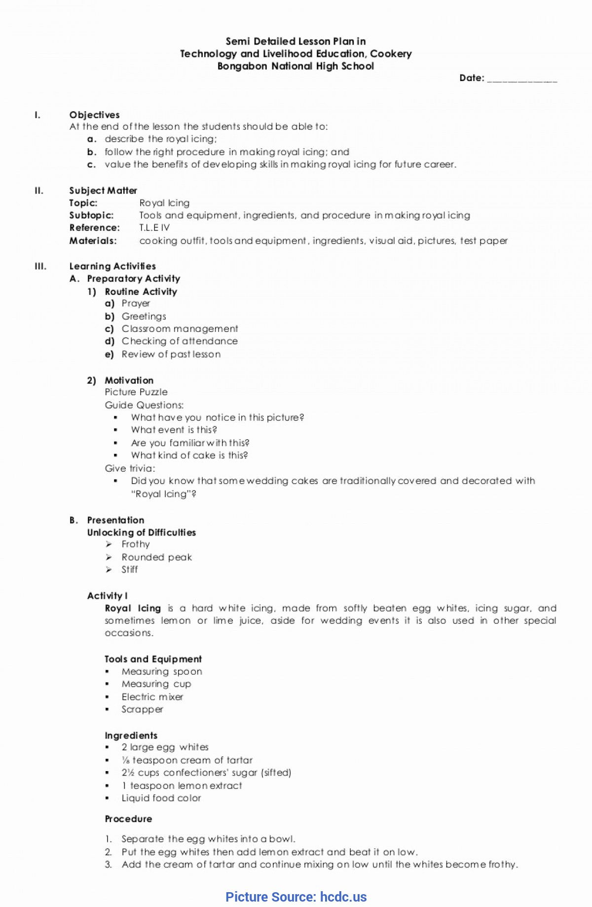 Typical Simple Blank Lesson Plan Template Basic Lesson