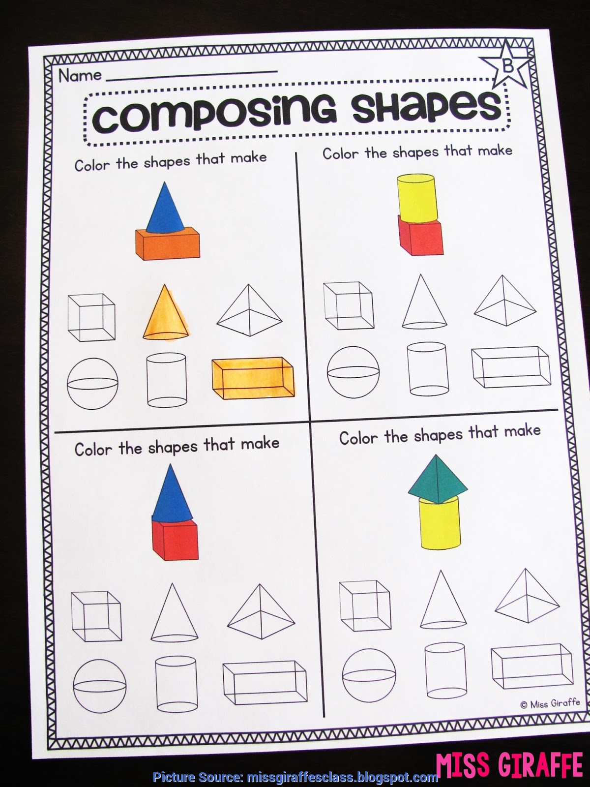 Simple First Grade Lesson Plans Geometry Miss Giraffe S