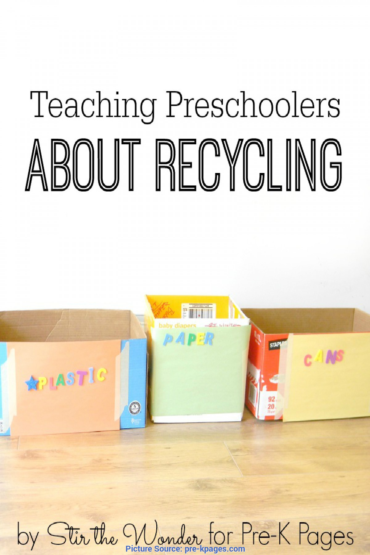 Earth Recycling Preschool Worksheet