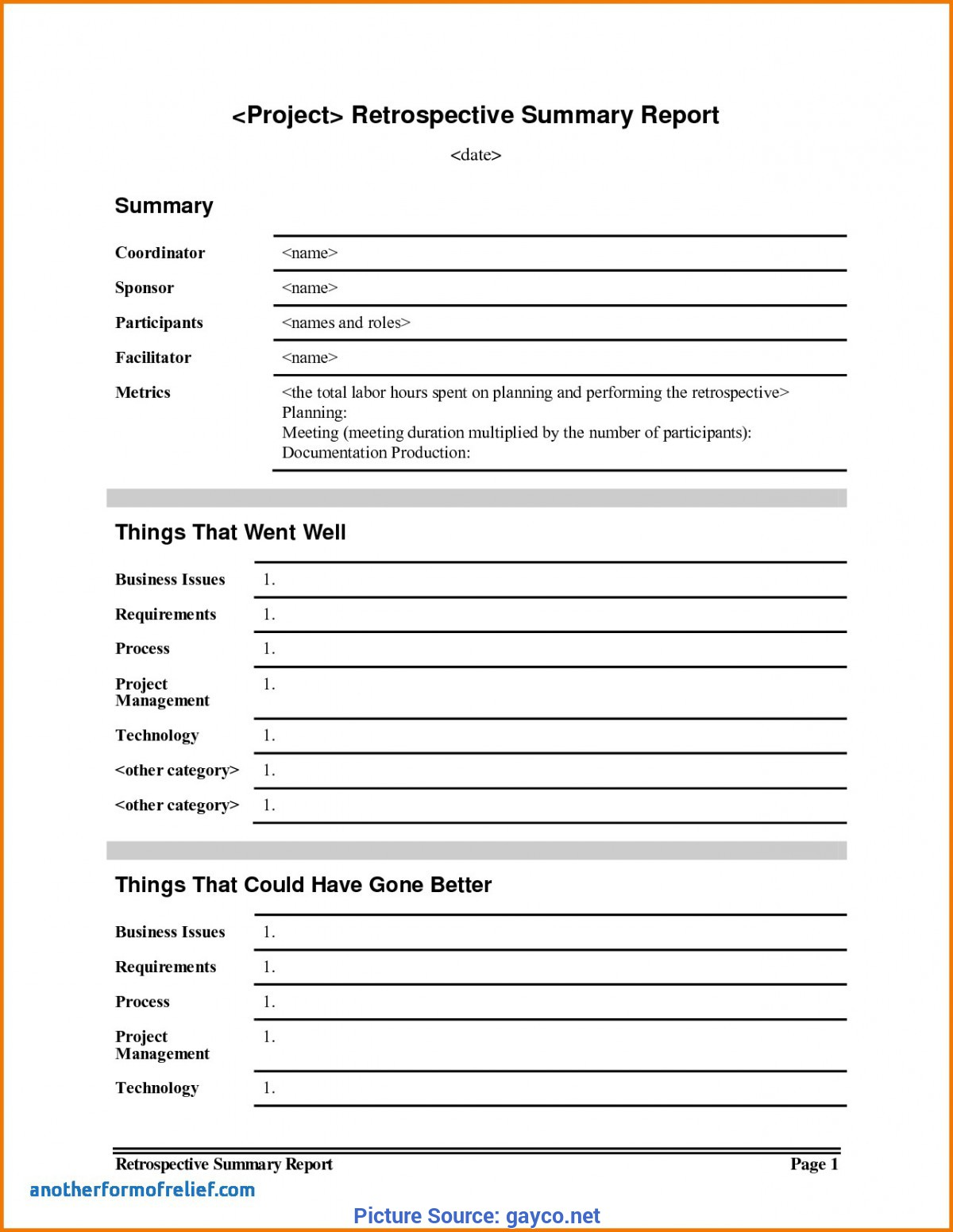 Simple Project Lessons Learnt Template Lessons Learnt