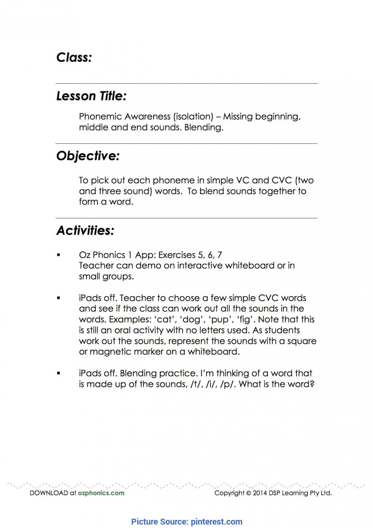 Typical Technology Integrated Lesson Plans For