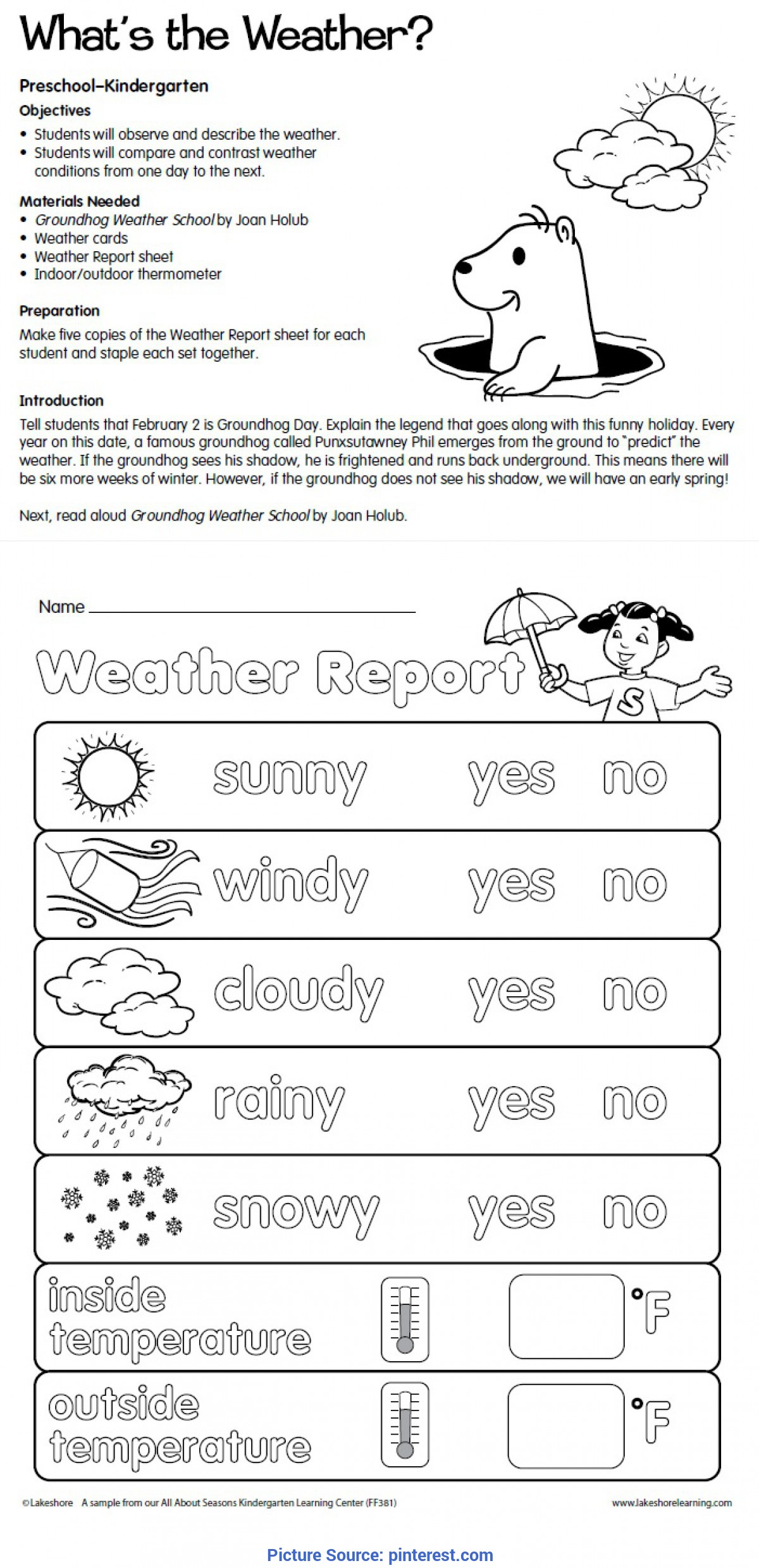 Climate Worksheet Middle School